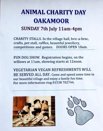 animal charity day July 7th 2019 Oakamoor