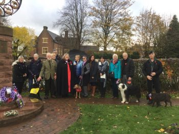 wreath laying event ww1 animals cheadle memorial 2018 Nov 10
