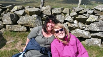 Anita and Tracey sponsored walk snowdon 6 june