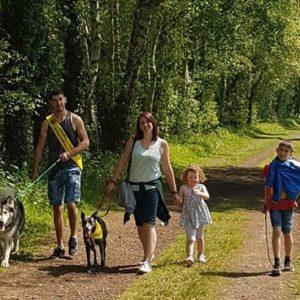 sponsored dog walk with kobi and brad