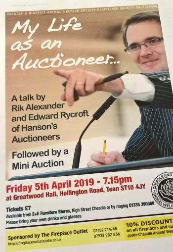 Friday 5th April- Our Auction Evening was a great success