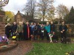 wreath laying event ww1 animals cheadle memorial 2018 Nov 10