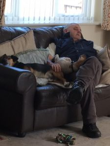spud and archie and dad asleep