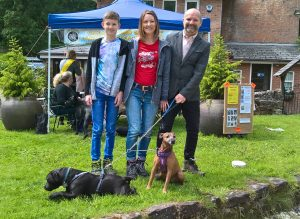 Jess (Ex CAW dog) with Stanley another rescue dog and family