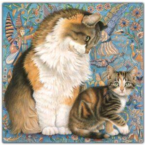 Cheadle Ivory cat blue[2665]