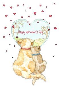Cheadle Valentine dogs