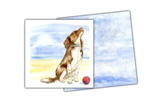 Notelet dog and envelope 1
