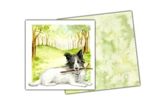Notelet dog and envelope 2