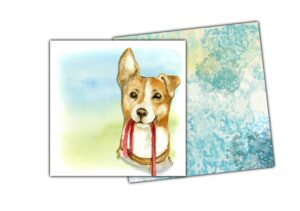 Notelet dog and envelope 3